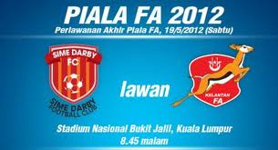 game played: Piala FA 2012 : Kelantan The Red Warriors Road To Final