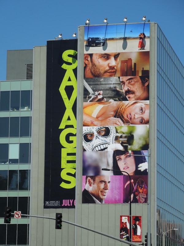 Savages movie billboard Hollywood