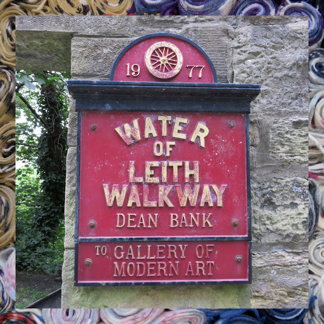 The Water of Leith in Edinburgh - Signpost