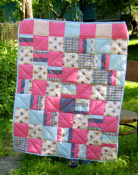 одеяло, pink quilt