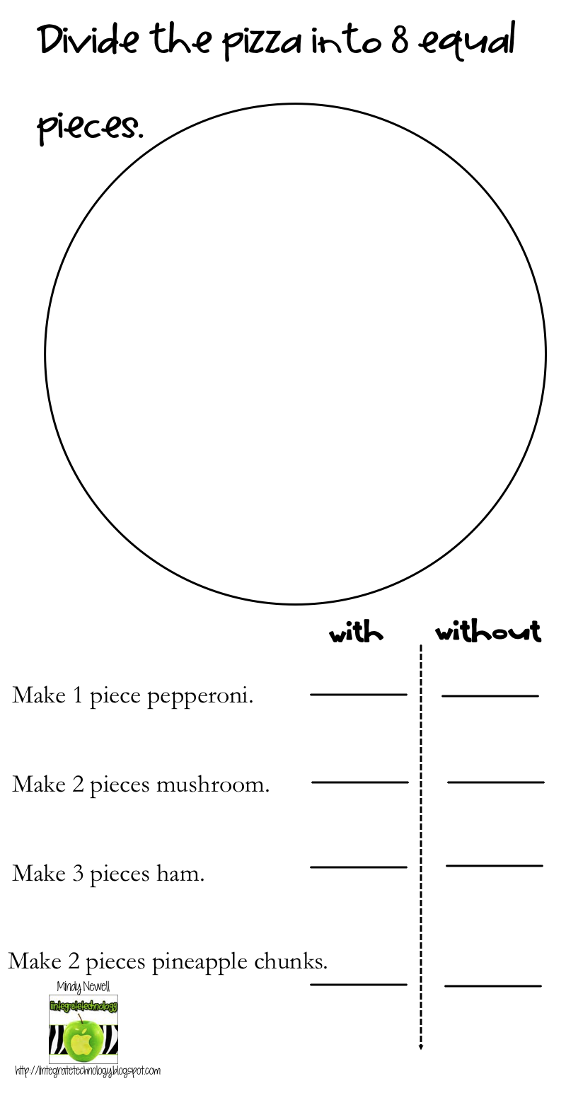 Worksheet Pizza Fraction Worksheets Mikyu Free Worksheet – Pizza Fractions Worksheet