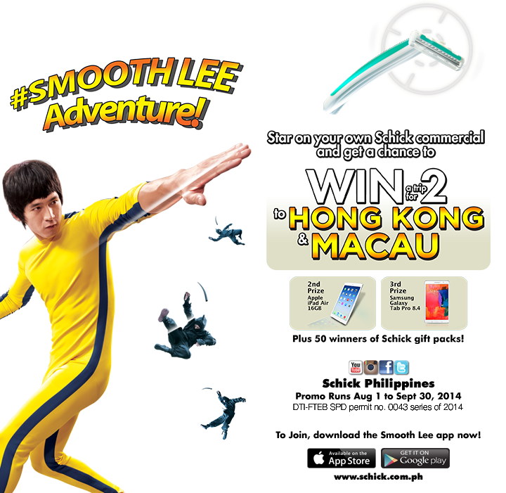 Schick Smooth Lee Adventure Contest, Schick Smooth Lee Adventure Promo, Philippines promo, trip to HK and Macau