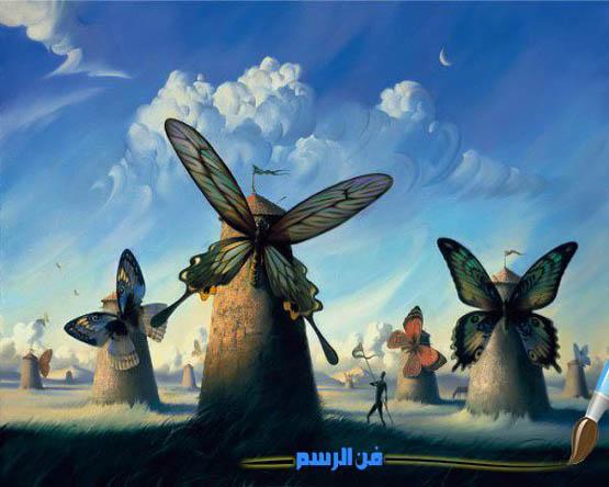 اجمل اللوحات الخيالية(رسومات سريالية)