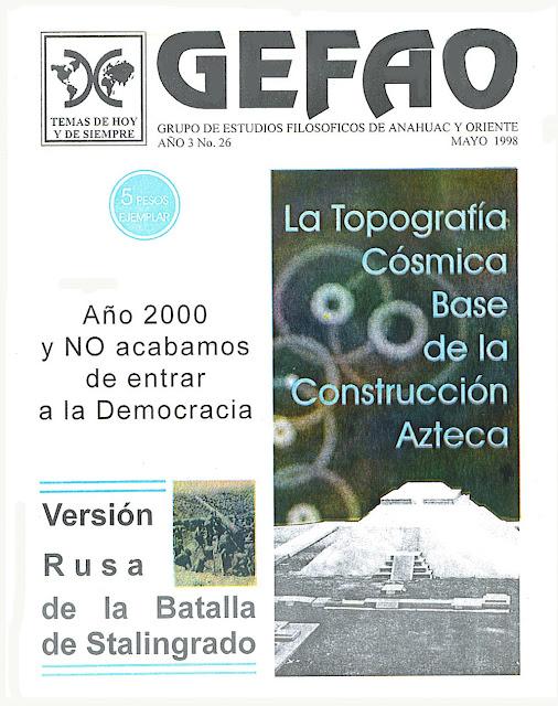 La Topografía Cósmica base de la construcción Azteca Revista GEFAO