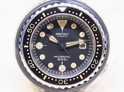 SEIKO DIVER TUNA PROFESSIONAL 600m - SEIKO DIVER 6159 7010 - TITANIUM CASE -TITANIUM CERAMIC SHROUD