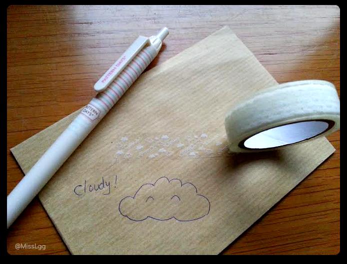 washitape clouds nubes cloudy 5centimetros (cinta transparente adhesiva)