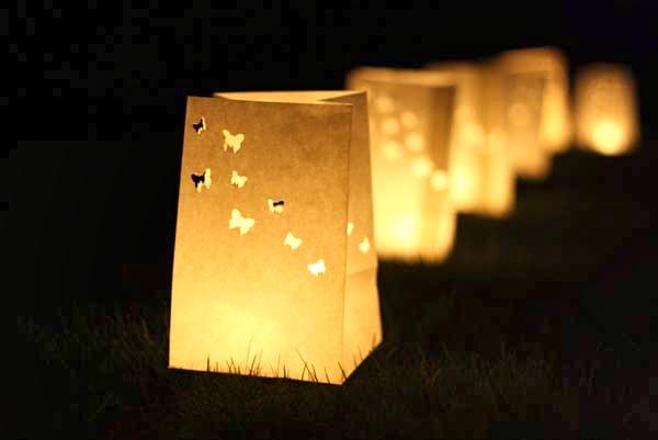 Cosas de palmichula decorar con faroles y farolillos - Bolsas de papel para velas ...