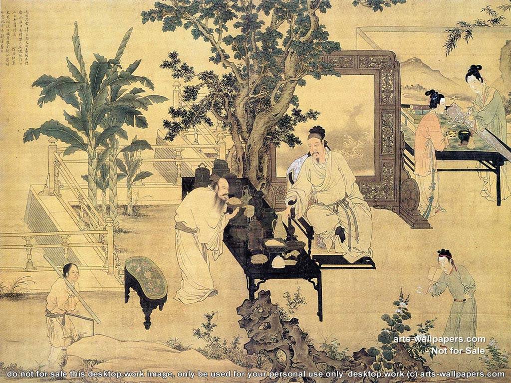 Asian art wallpaper top hd wallpapers for Chinese mural wallpaper