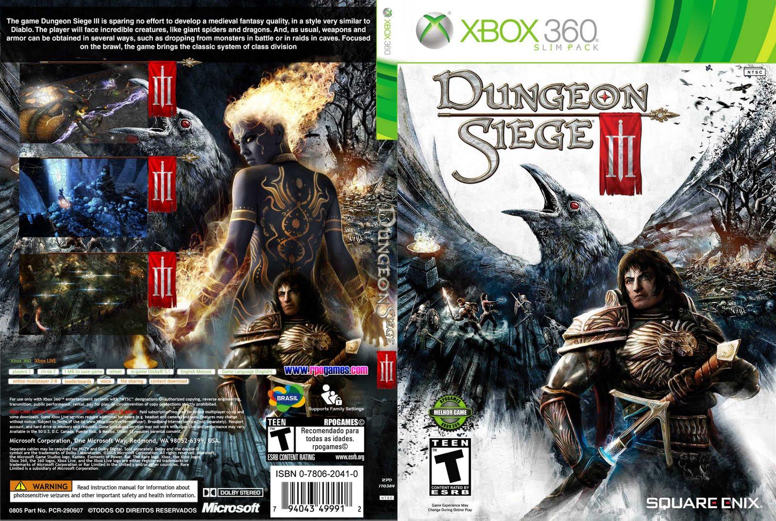 dungeon siege iii xbox 360