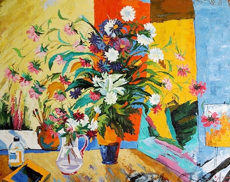 Pinturas cuadros lienzos pintura de bodegones con - Cuadros de pintura ...