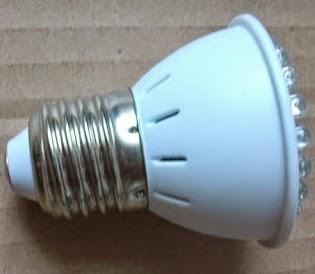 hasil jadi lampu led 220 volt siap di pasang