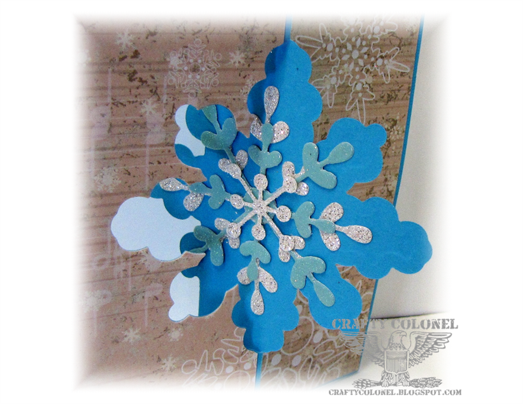 Crafty Colonel, StampinUp, Thinlits Snowflake Card Die, Winter Card, House of Cards Challenge Blog,