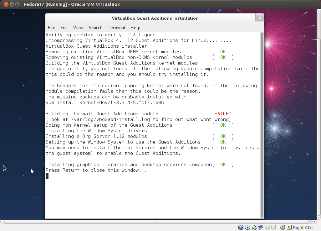 building the virtualbox guest additions kernel modules 1