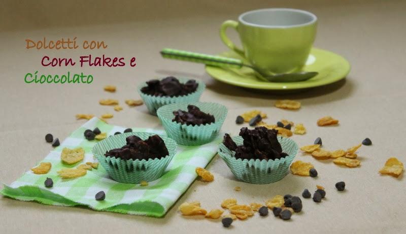 dolcetti con corn flakes e cioccolato
