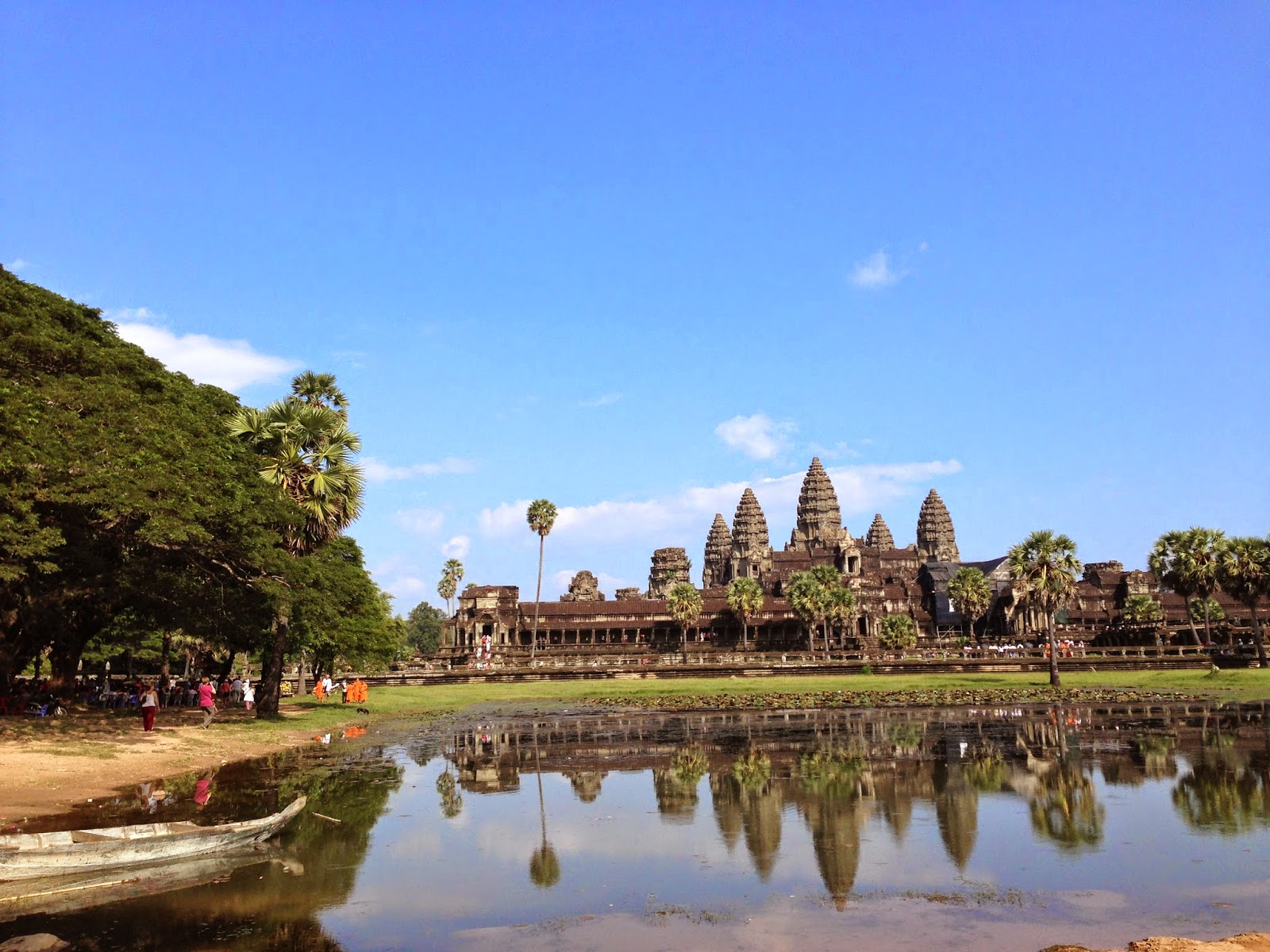 An evening in Angkor Wat