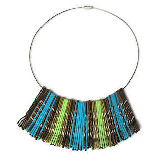 upcycled bobby pin necklace