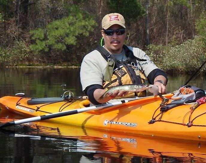 Pine barren kayak fisherman wilderness skills for beginners for Freshwater kayak fishing