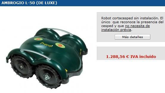 Robot aspirador cortac sped autom ticos - Cortacesped automatico precio ...