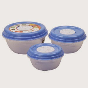 Princeware Blue Fresh Vent Round Set of 3 Containers Rs.79