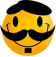 Gambar Smiley Berkumis Kartun Lucu