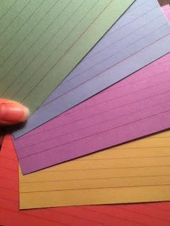 notecards plotting writing