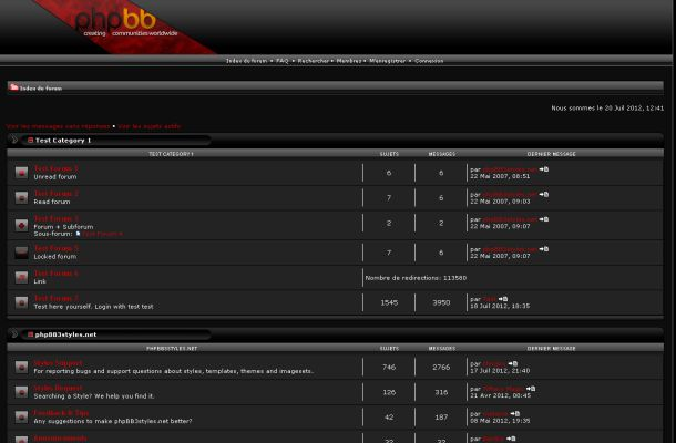 Abstract Dark Black Grey Red Phpbb Style Theme