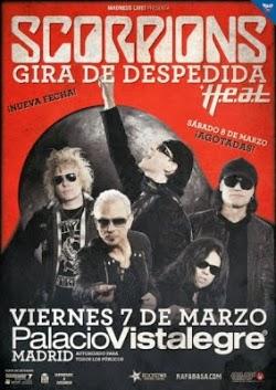 Nueva fecha de Scorpions en Madrid en marzo con HEAT de teloneros
