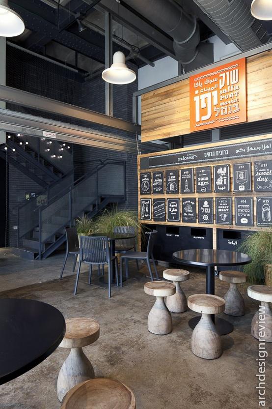Architecture and design restaurant interiors