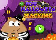 Pou Halloween Slacking