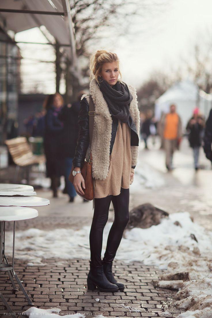 Фото стильно одетых девушек на зиму