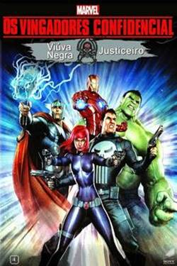 Capa Vingadores Confidencial Viúva Negra & Justiceiro