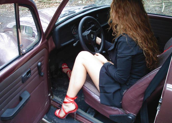 beautiful girl in car - photo #26