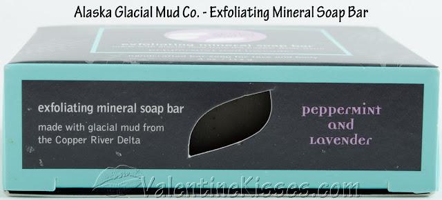 Valentine Kisses: Alaska Glacial Mud Co. Exfoliating Mineral Soap Bar