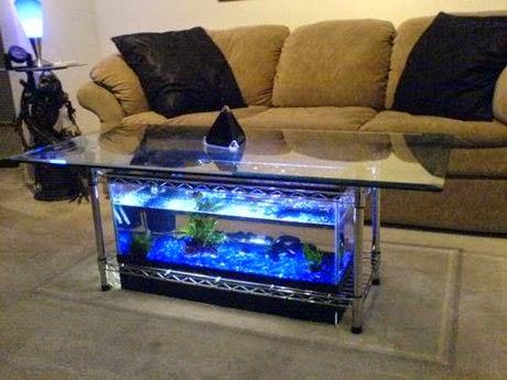 aquarium table concept model