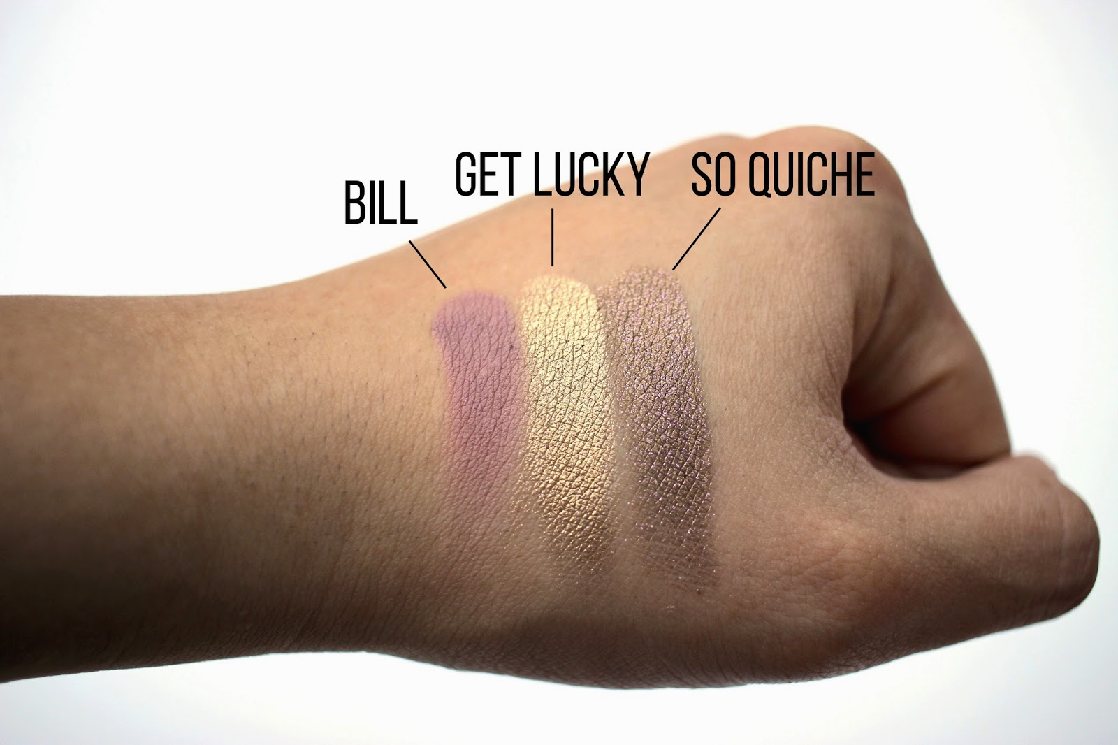 Colour Pop Bill, Get Lucky, and So Quiche