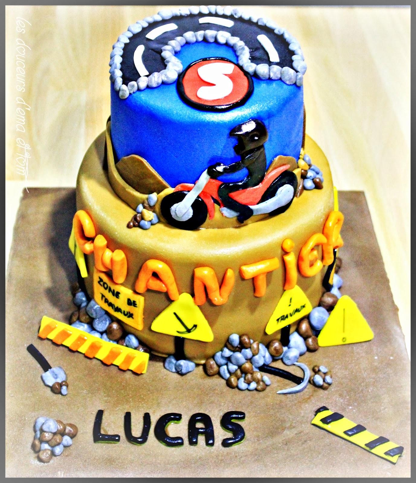 Extrêmement LES DOUCEURS D'EMA ET TOM: Gâteau d'anniversaire : travaux partout  KU55