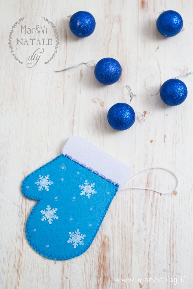 Natale fai da te, tutorial guanto in feltro