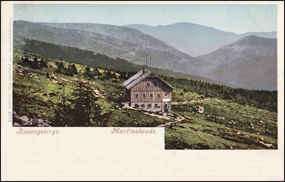 Martinova bouda kolem roku 1900
