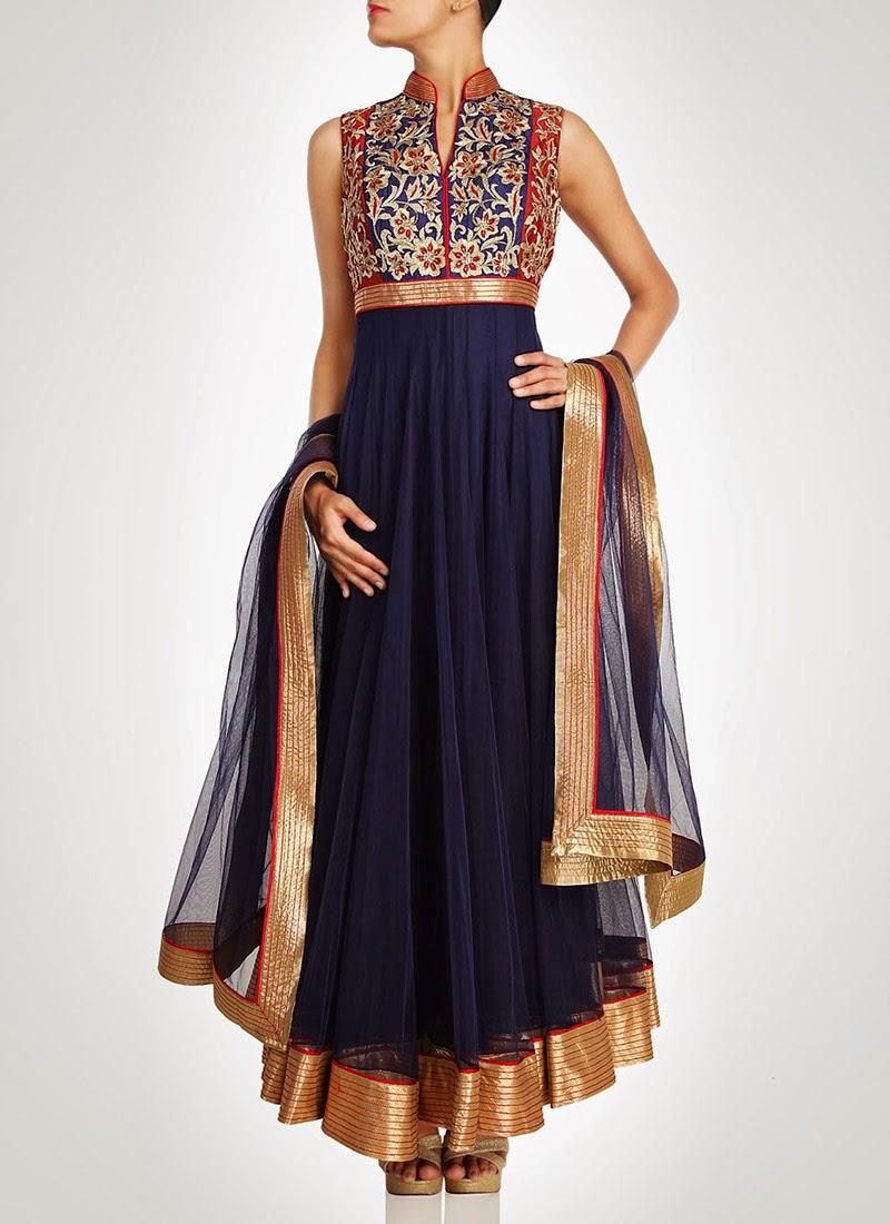 NewDesignsofLongAnarkaliSuitsCollection201428929 - New Designs of Long Anarkali Suits Collection 2014