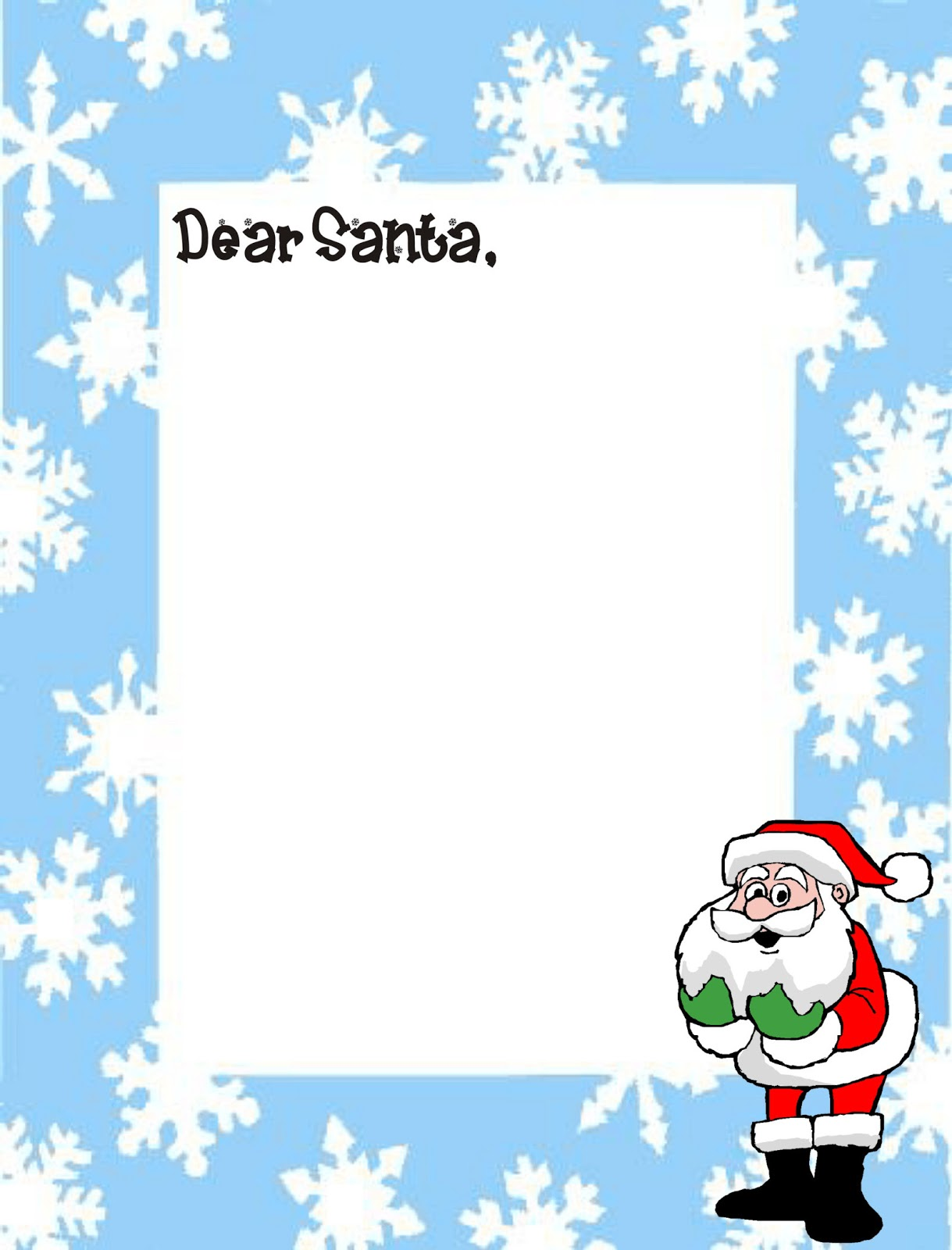 DEAR SANTA LETTER TEMPLATE FOR CHILDREN