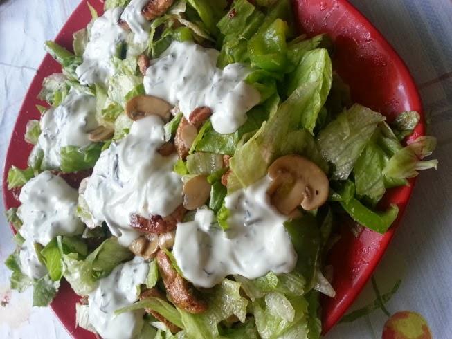 Salata ciperci, ardei, carne