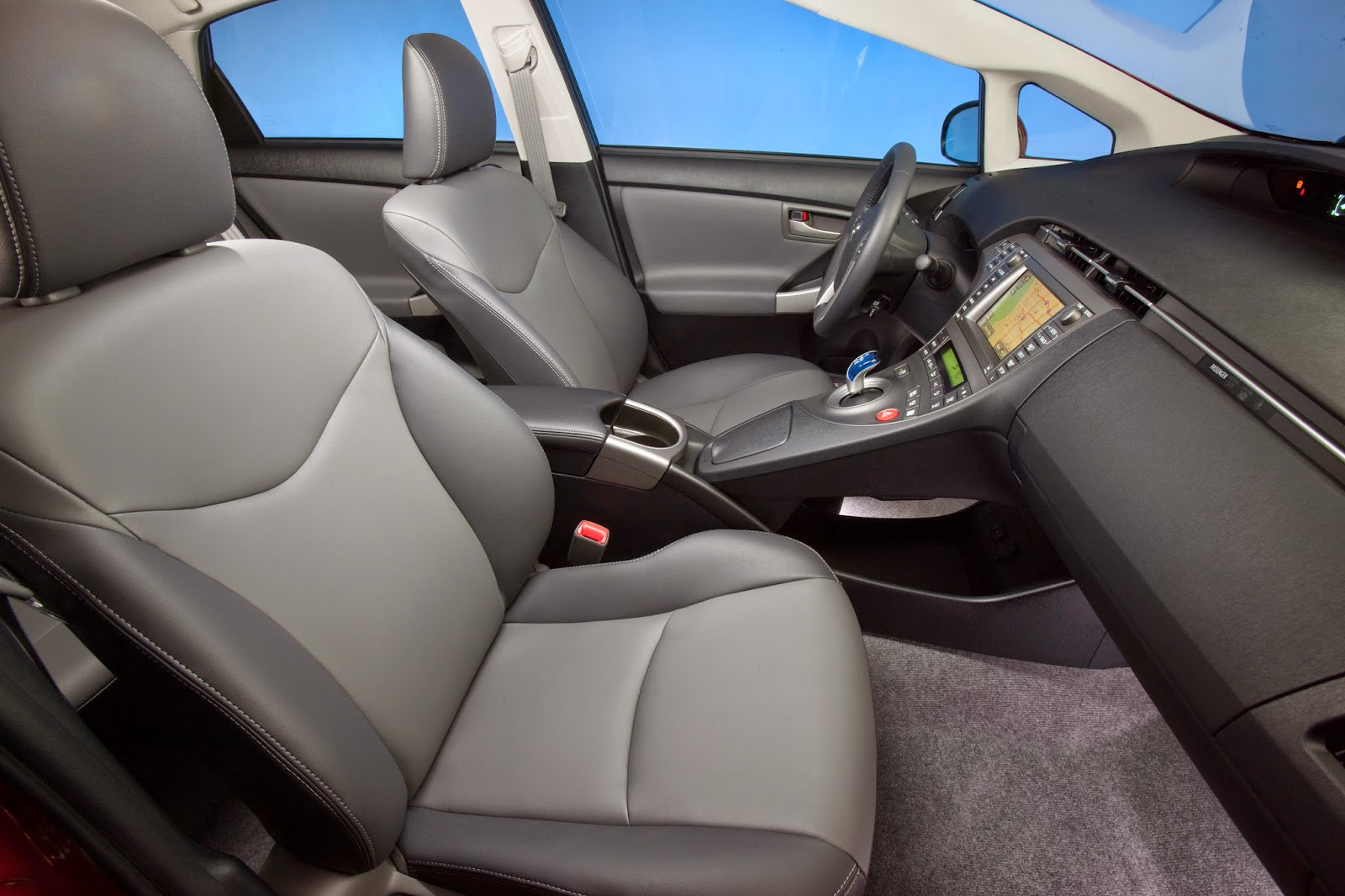 Interior view of 2015 Toyota Prius