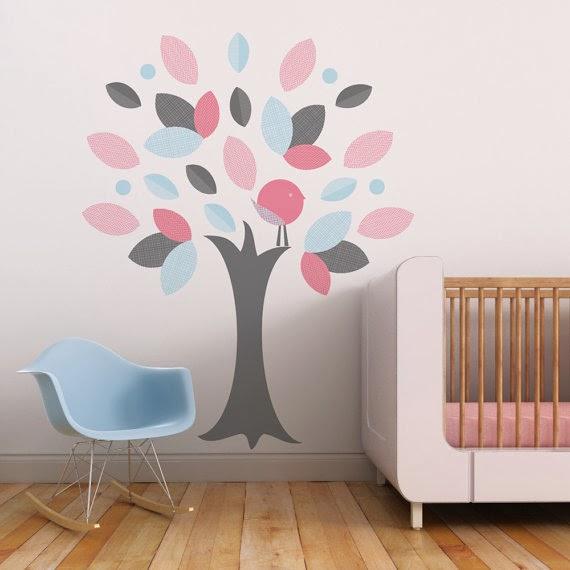 Decoraci n de las paredes del dormitorio infantil for Decorar paredes vinilos adhesivos