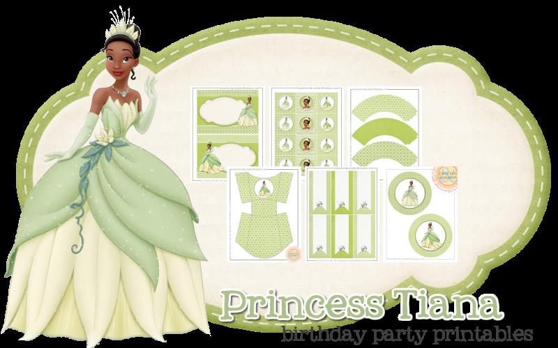 Imprimible gratis Tiana - Fiesta de princesas