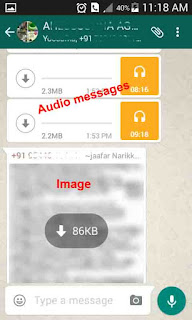 Unloaded whatsapp audio image files
