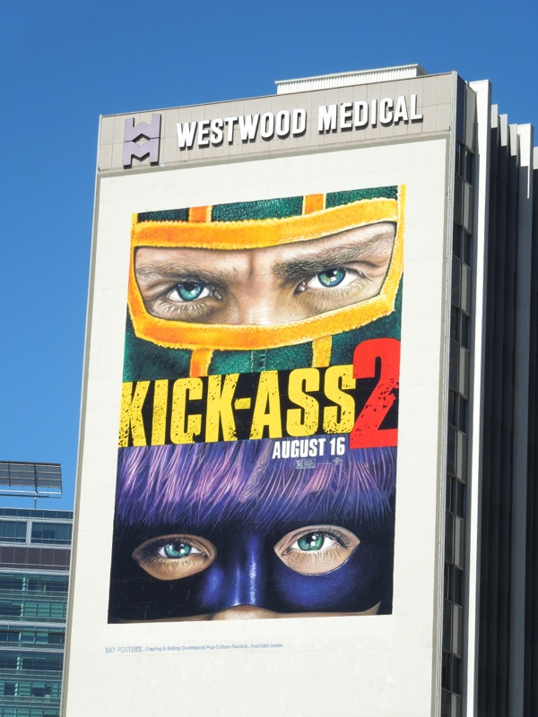 Giant Kick Ass 2 movie billboard
