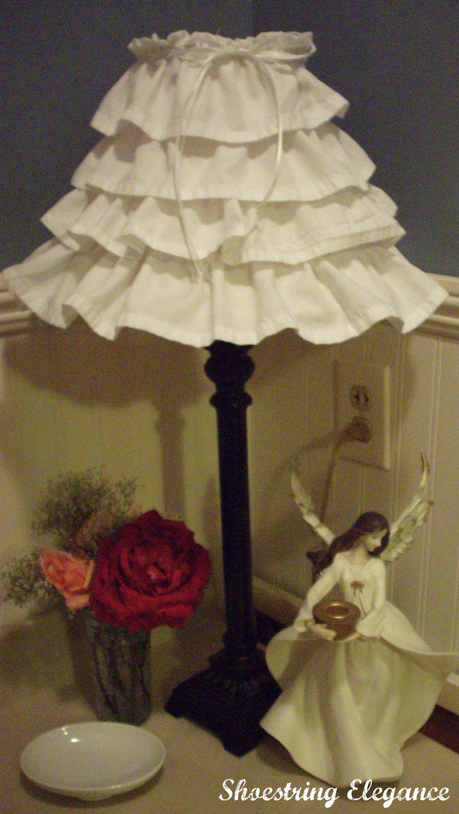 Shoestring elegance no cost lampshade redo for Redo lamp shades