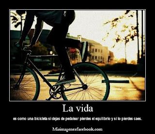Frases Para La Vida: La Vida Es Como Una Bicicleta Si Dejas De Pedalear