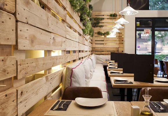 Marzua un decorado con materiales reciclados restaurante for Decoracion de interiores reciclado