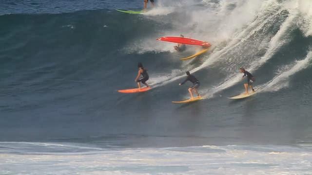 Waimea 1 4 12 High Surf Warning